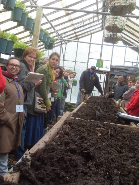 Will Allen, founder and CEO of Growing Power leads a short course on composting and vermicomposting