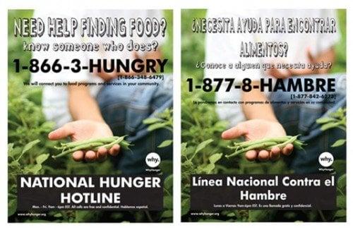 Hunger Hotline Poster