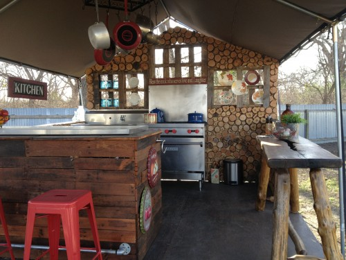 A model community kitchen at the Mobile Loaves and Fishes Community First! Village