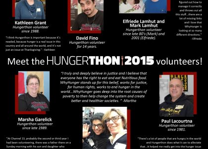 Meet Hungerthon Volunteers!