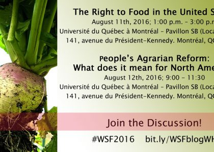 2016 World Social Forum: Another World Is Needed, Together It's Possible!
