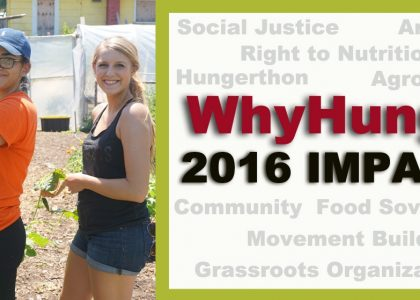 WhyHunger's 2016 Impacts