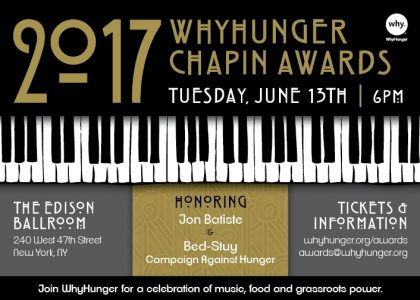 Join Us! WhyHunger Chapin Awards