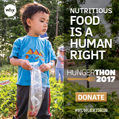 WhyHunger's 32nd Hungerthon Campaign Kicks Off