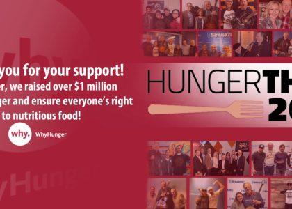 Hungerthon Raises $1 Million