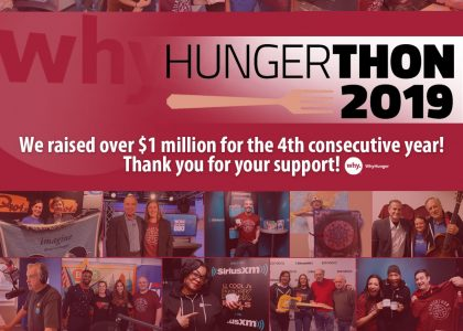 Hungerthon Campaign Raises $1 Million to End Hunger for Good