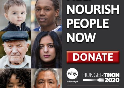WhyHunger's Hungerthon Campaign Aims to End Hunger Amid the COVID-19 Pandemic and Beyond