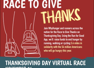 Lace Up & Join WhyHunger's Race to Give Thanks