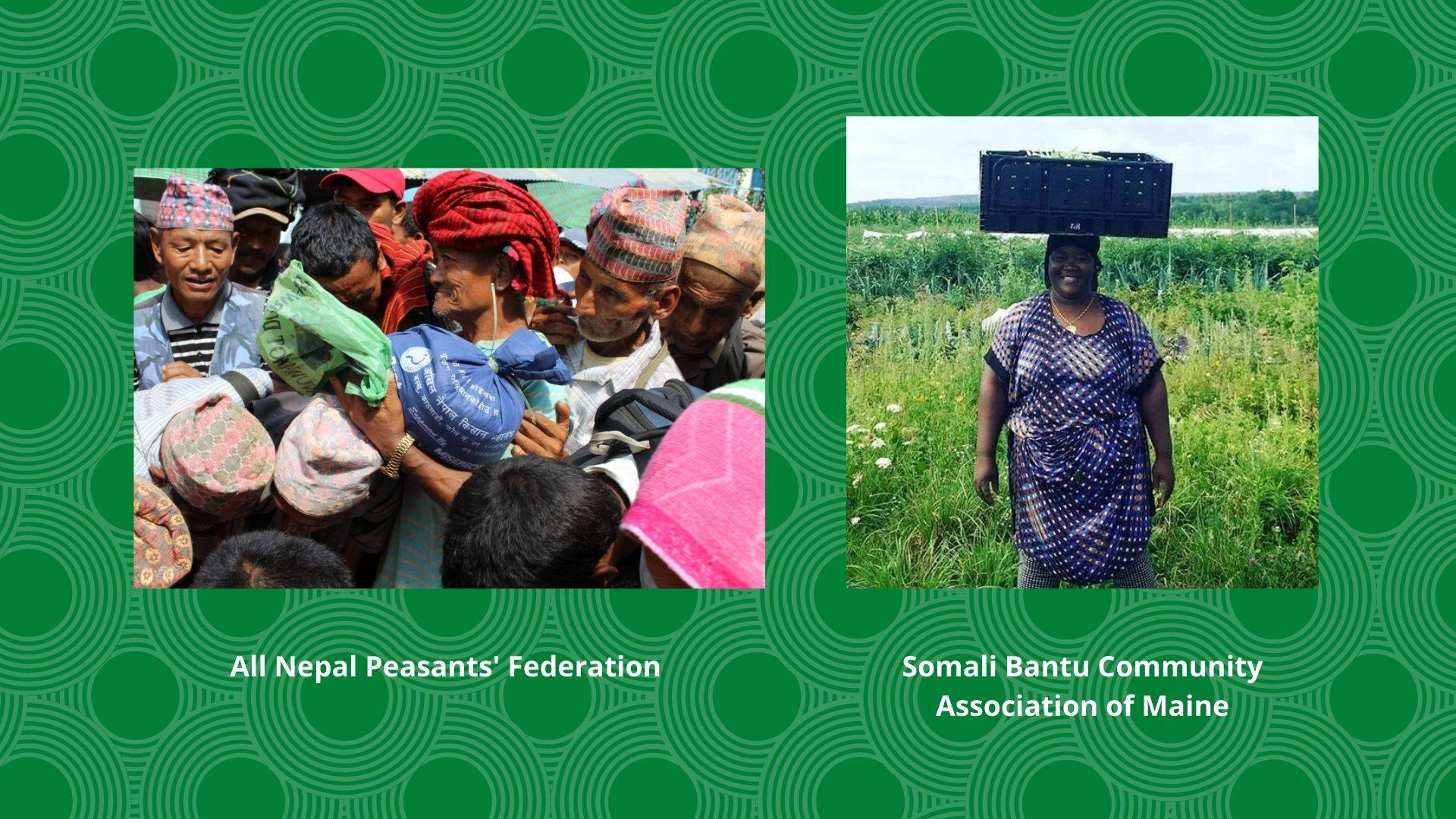 Somali Bantu Community Association & All Nepal Peasants' Federation Receive 12th Annual Food Sovereignty Prize in 2020